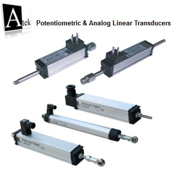 Atek Sensor Potentiometric Analog Linear Transducers Measuring - خط کش های اهمی (آنالوگ) آتک سنسور Atek Sensor