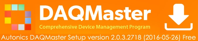 Autonics DAQMaster Download - معرفی نرم افزار DAQMaster آتونیکس