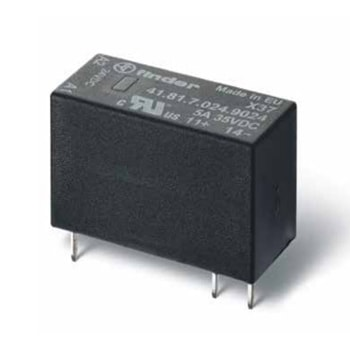 Finder Low profile Solid State PCB relays 41 Series - رله مشخصات پایین PCB الکترومکانیکی و حالت جامد فیندر Finder سری 41