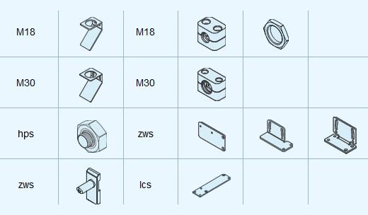 Microsonic Reflector Mounting accessories - رفلکتور و متمرکز کننده سنسور های التراسونیک میکروسونیک Microsonic