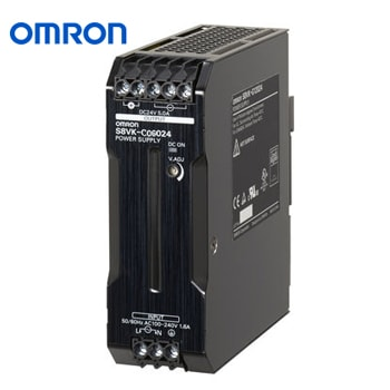 OMRON Power Supply Book Type DIN rail Model S8VK C06024 - منبع تغذیه 24 ولت 2.5A آمپر 60 وات کتابی (ریلی) امرن OMRON مدل S8VK-C06024