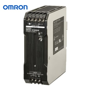 OMRON Power Supply Book Type DIN rail Model S8VK C12024 - منبع تغذیه 24 ولت 5A آمپر 120 وات کتابی (ریلی) امرن OMRON مدل S8VK-C12024