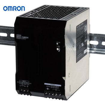OMRON Power Supply Book Type DIN rail Model S8VK C48024 - منبع تغذیه 24 ولت 20A آمپر 480 وات کتابی (ریلی) امرن OMRON مدل S8VK-C48024