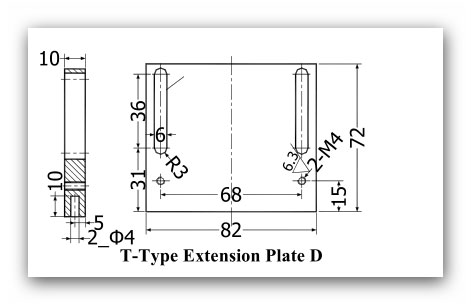 SINO T A 4 - قطعات آلومینیومی نصب خط کش سینو SINO