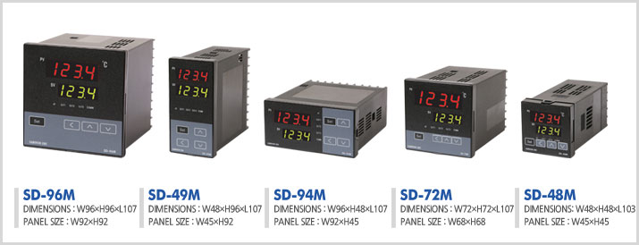 Samwon Temperature Controllers SD series - کنترلر دما ساموان Samwon مدل SD-72MF