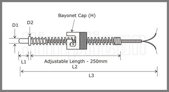 bayonet k thermocouple 2 - ترموکوپل بایونت تیپ K